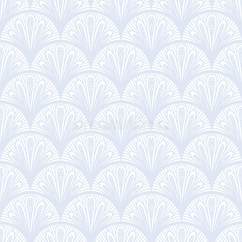 Art Deco wektorowy geometryczny wzór w srebnym bielu. royalty ilustracja