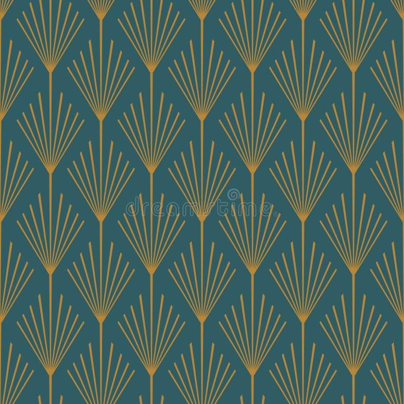 Art Deco wektoru wzoru Bezszwowa cyraneczka i groszak zdjęcie royalty free