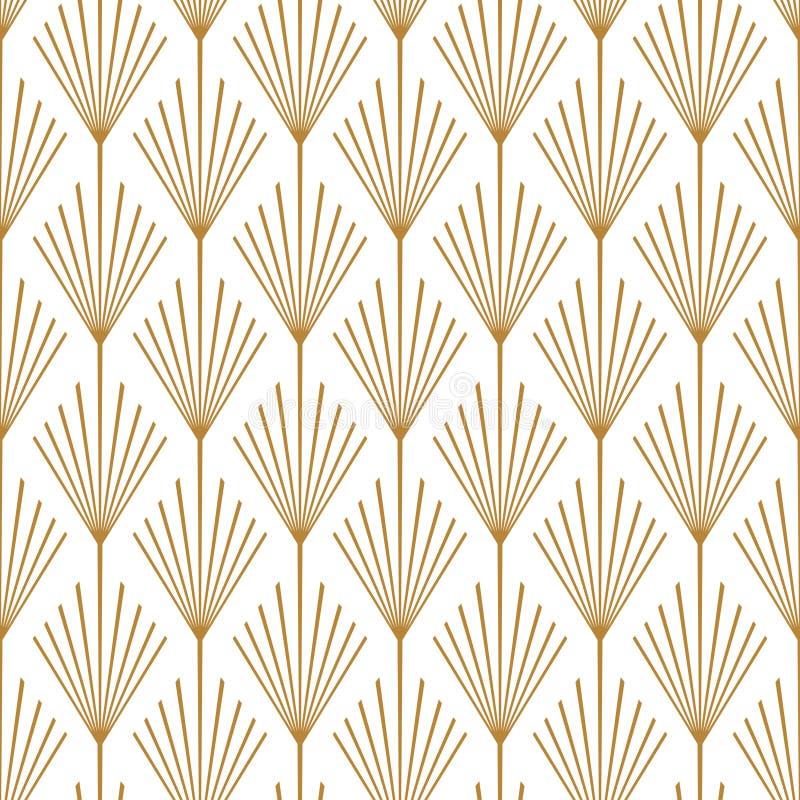 Art Deco wektoru wzoru Bezszwowy groszak zdjęcie royalty free