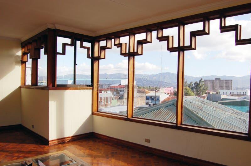 Art Deco Windows lizenzfreie stockfotos