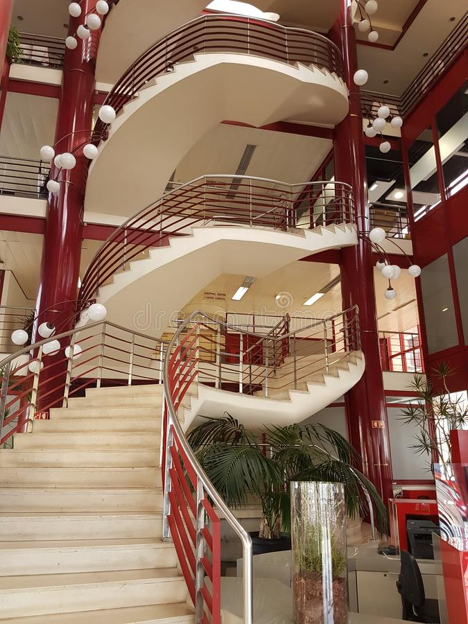 Art deco winkelend centrum in Funchal Madera royalty-vrije stock foto