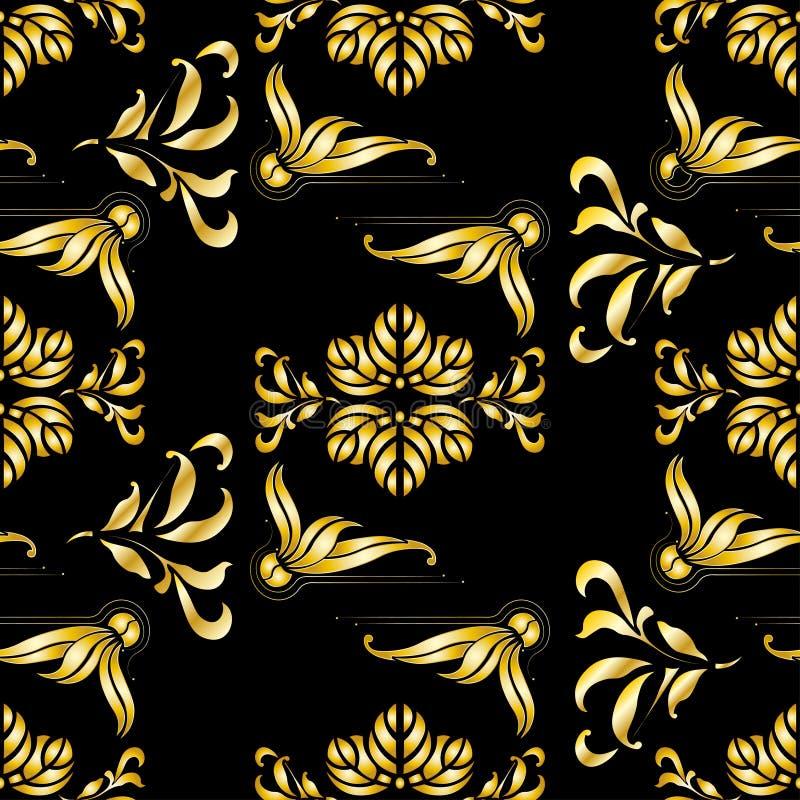 Art deco worm summer seamless pattern stock illustration
