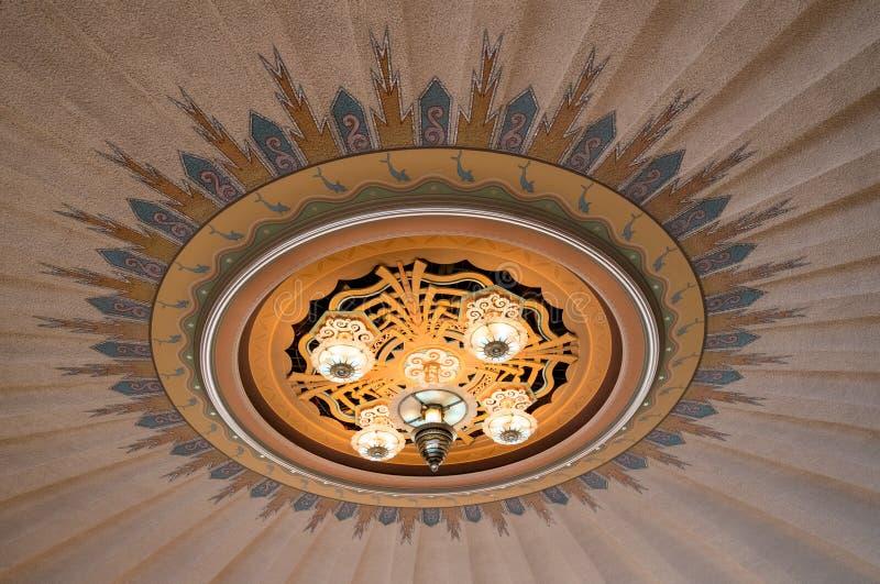 Art Deco zaświeca na Avalon kasynie fotografia royalty free