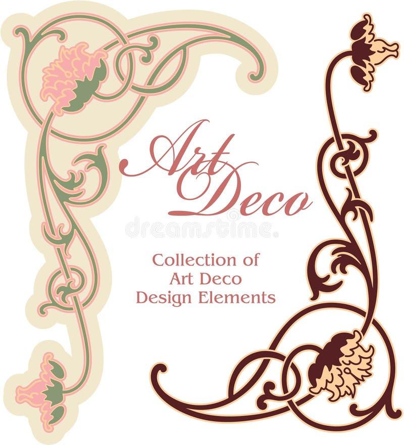 Art- DecoAuslegung-Element - Ecke stock abbildung