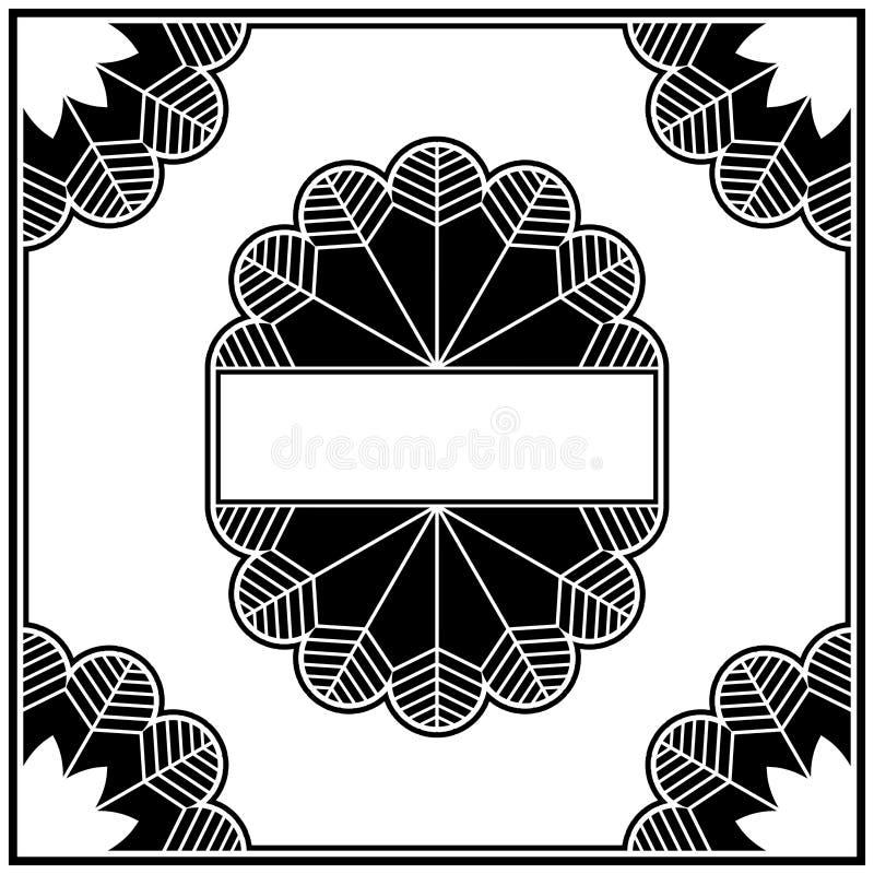 Art DecoAuslegungelement-Ansammlungsrand stock abbildung