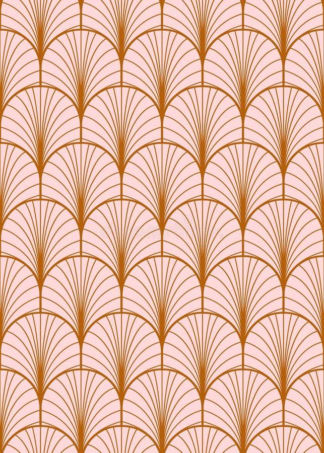 Art- Decogeometrisches nahtloses Vektormuster lizenzfreie abbildung