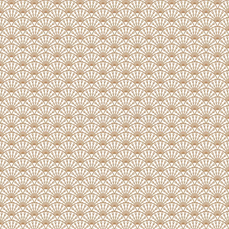 Art- DecoGoldlinie Muster des Skalageometrischen stils lizenzfreie abbildung