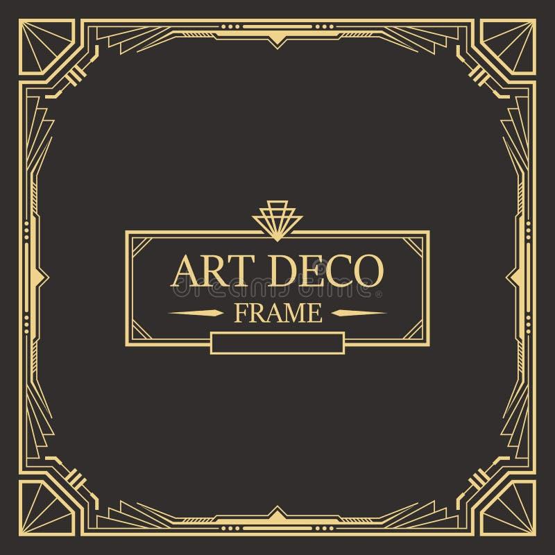 Art- DecoGrenze und Rahmenschablone vektor abbildung