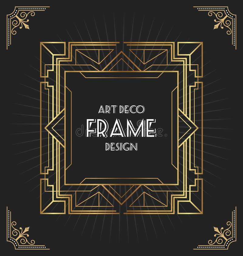 Art- DecoRahmendesign für Ihr Design vektor abbildung