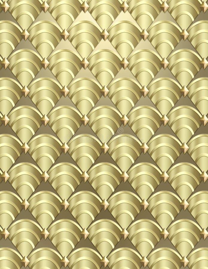 Art- DecoShell Hintergrund lizenzfreie stockfotos