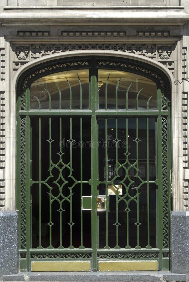 Art- DecoTür in Buenos Aires stockfoto