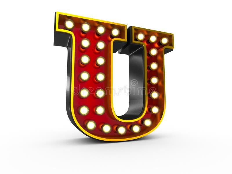 Art des Buchstabe-U 3D Broadway lizenzfreie abbildung