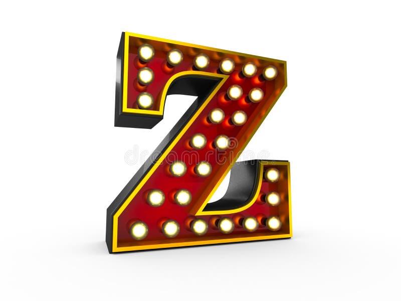 Art des Buchstabe-Z 3D Broadway lizenzfreie abbildung