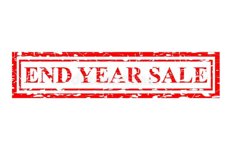 Art des Stempel-Effektes: Enden-Jahr-Verkauf, lokalisiert auf Weiß stock abbildung