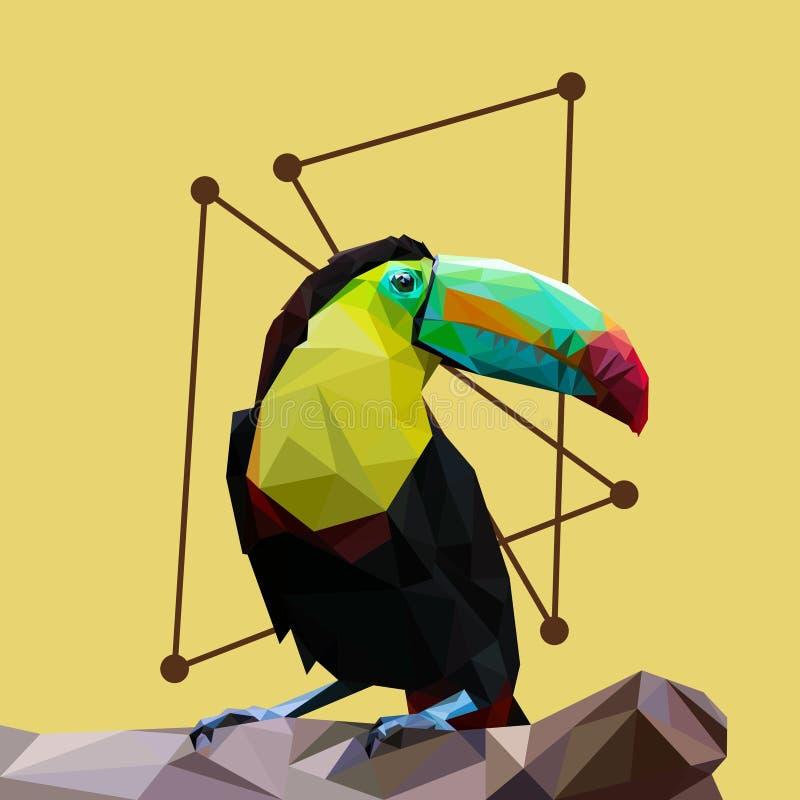 Art des Tukanvogels lowpoly stockfotografie