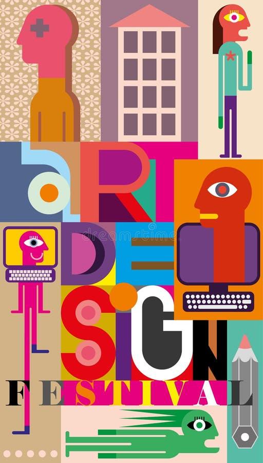 Art Design Festival vector illustration
