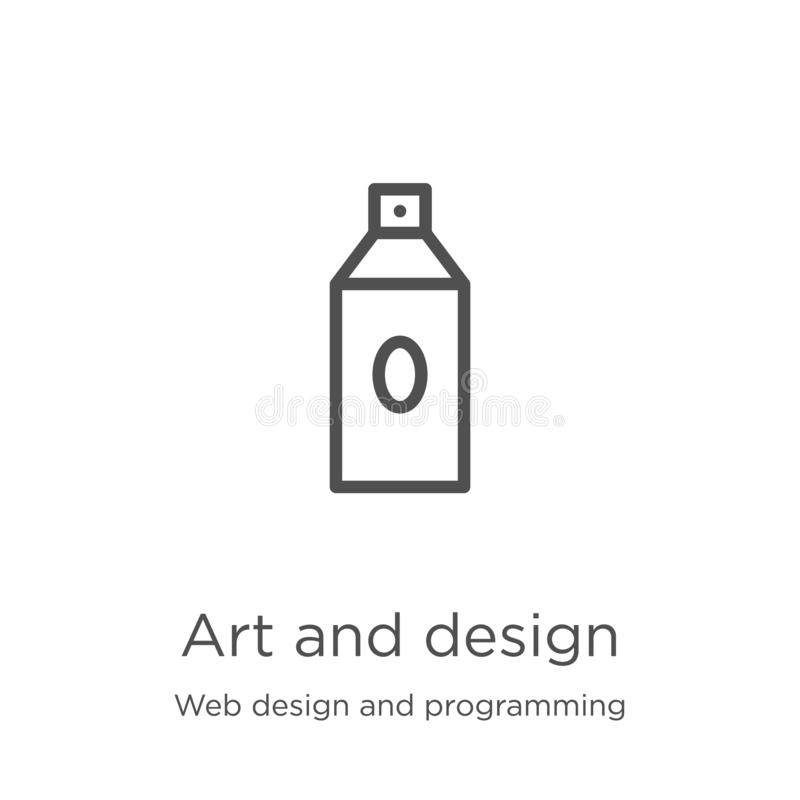 Art and design icon vector from web design and programming collection. Thin line art and design outline icon vector illustration. Art and design icon. Element vector illustration