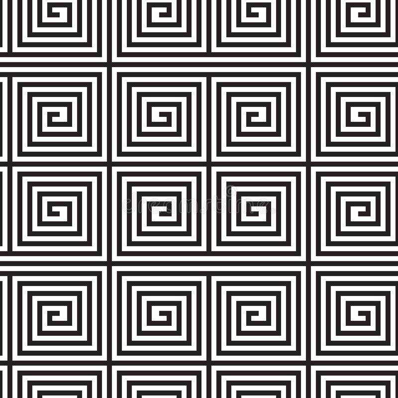 Art Design op in bianco e nero royalty illustrazione gratis
