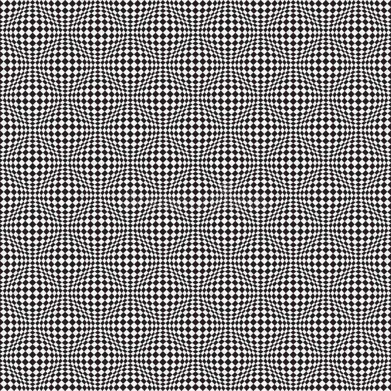 Art Distortion Pattern Op sem emenda no formato do vetor ilustração stock