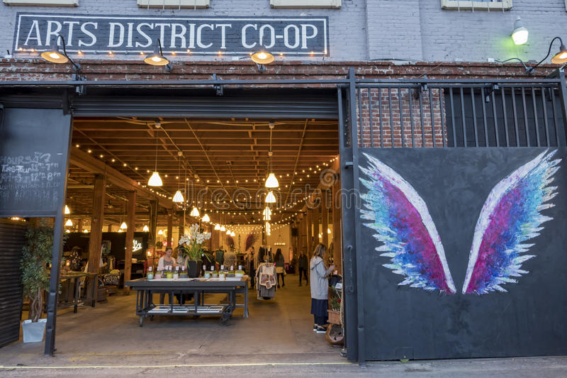 The Art District of Los Angeles. Los Angeles, JAN 16: The Art District on JAN 16, 2017 at Los Angeles, California stock photography