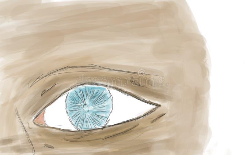 Drawing of eye royalty free stock image