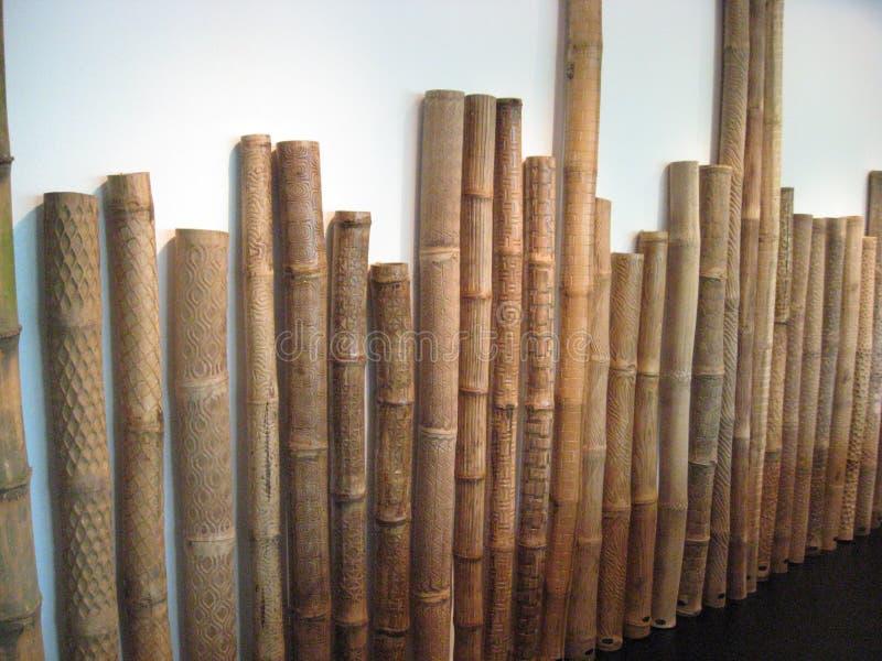Art en bambou traditionnel dans le mus?e d'Ayala, ceinture verte de Makati, ville de Makati photographie stock