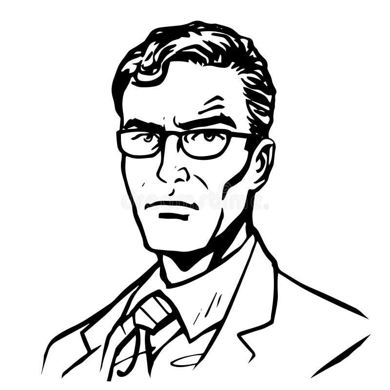 Art en ligne d'homme d'affaires d'homme illustration stock