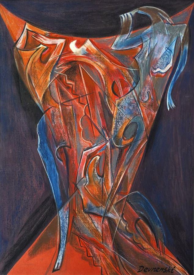 Art en pastel abstrait de peinture photographie stock
