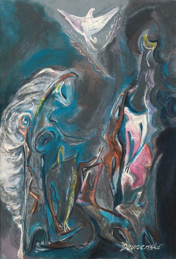 Art en pastel abstrait de peinture photos libres de droits