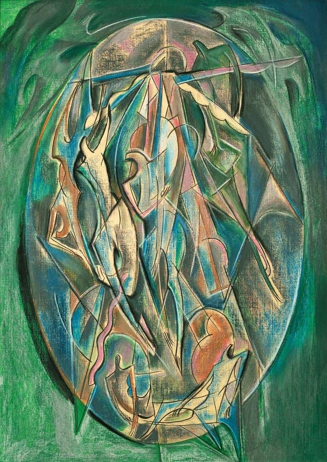 Art en pastel abstrait de peinture image libre de droits