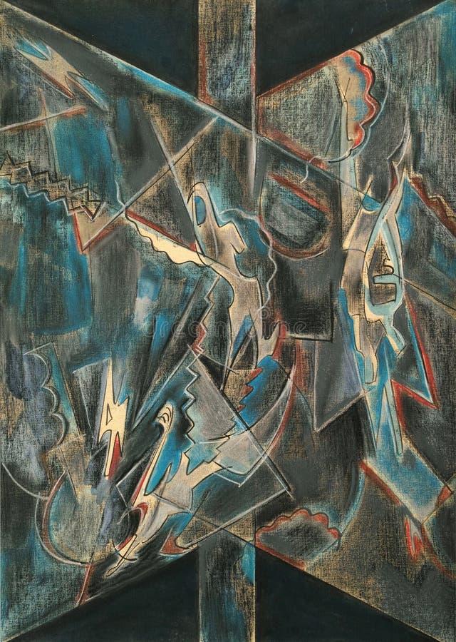 Art en pastel abstrait de peinture image stock