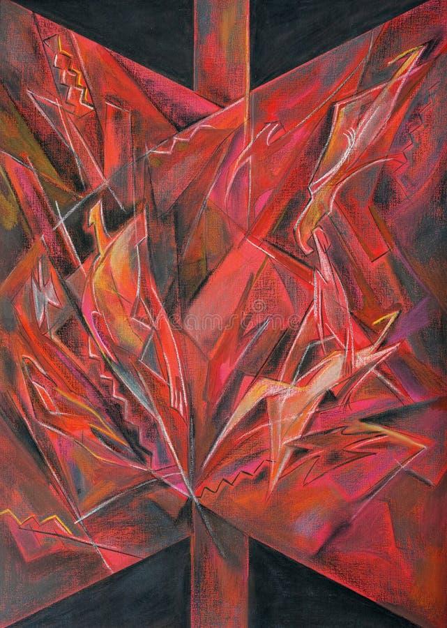 Art en pastel abstrait de peinture photo libre de droits