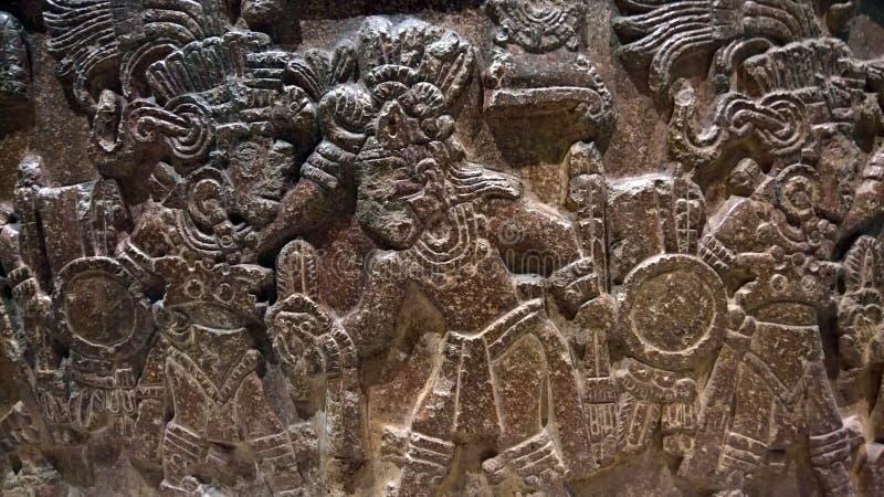 Art en pierre antique de Maxican photographie stock libre de droits
