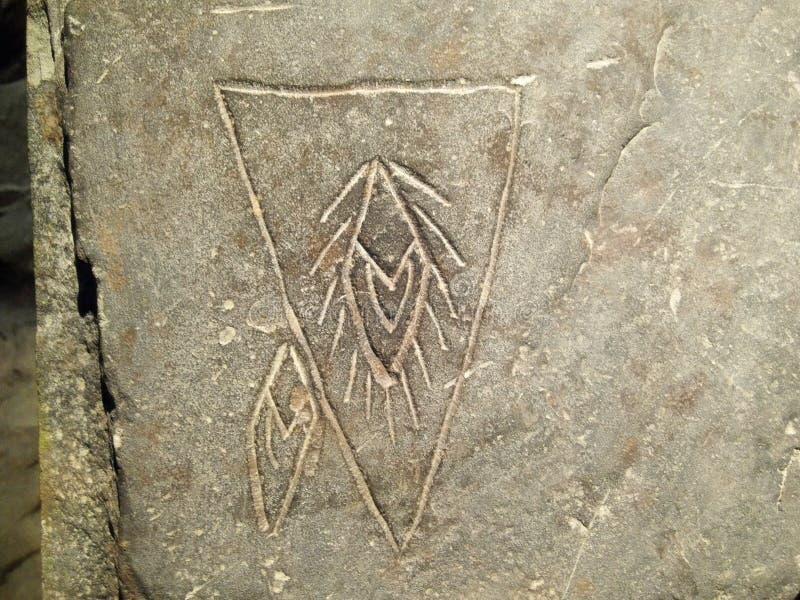 Art en pierre de découpages de l'âge néolithique photos libres de droits