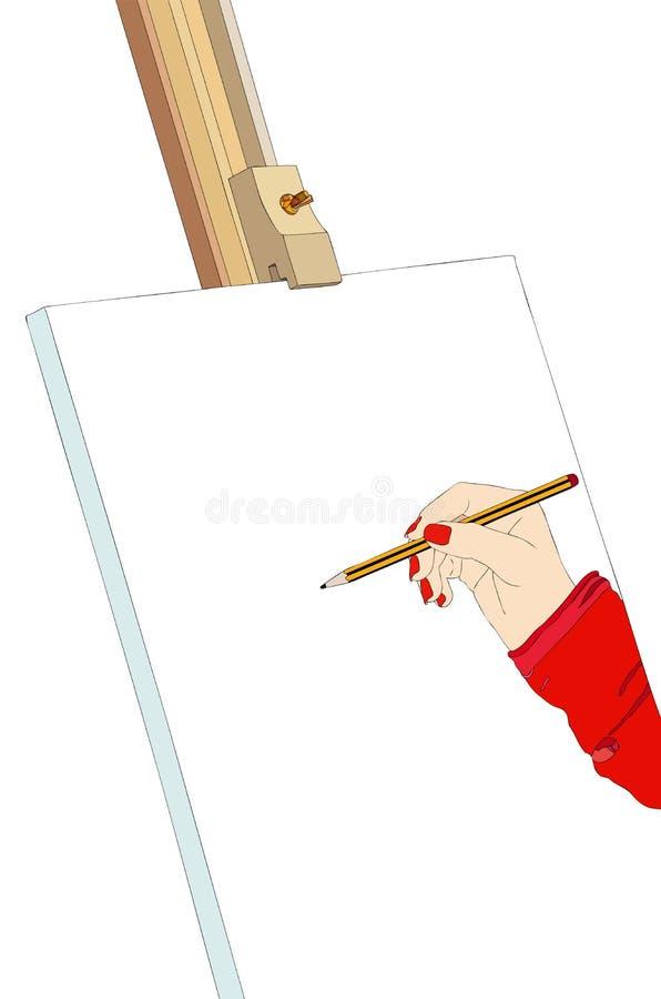 Art et créativité illustration de vecteur