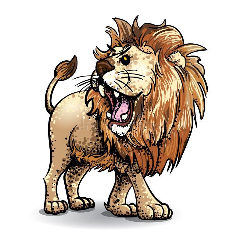 Art et pointillé de vecteur de Lion-couleur photo libre de droits
