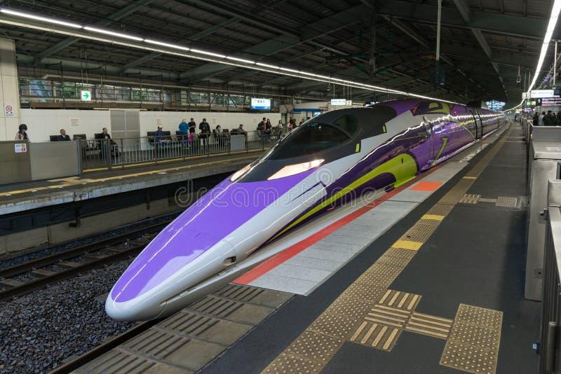 500 ART EVA, das Raumschiff-themenorientierte Shinkansen lizenzfreie stockfotografie