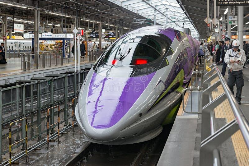 500 ART EVA, das Raumschiff-themenorientierte Shinkansen lizenzfreies stockbild