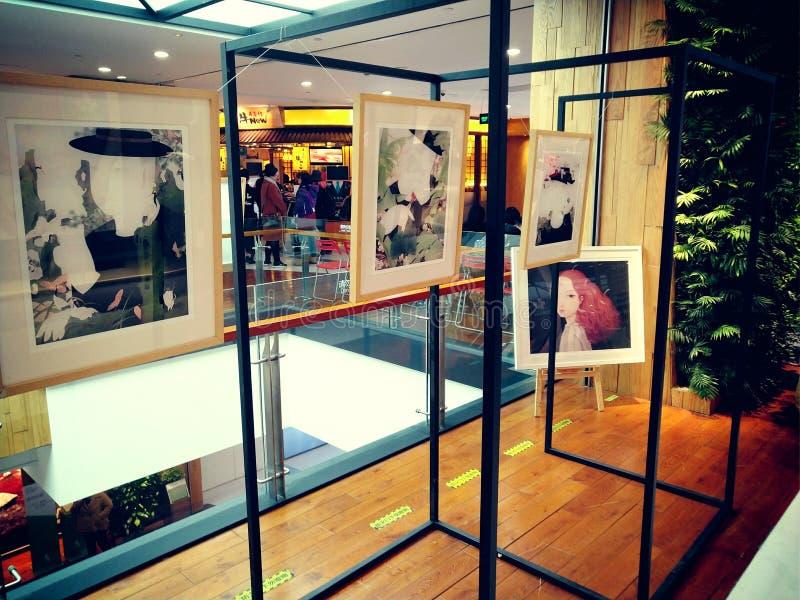 Art Exhibition Area au centre commercial images stock