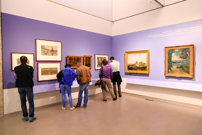 Art exhibition stock images