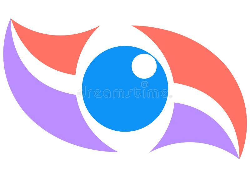 Art eye. Illustration of art eye logo isolated on white background royalty free illustration