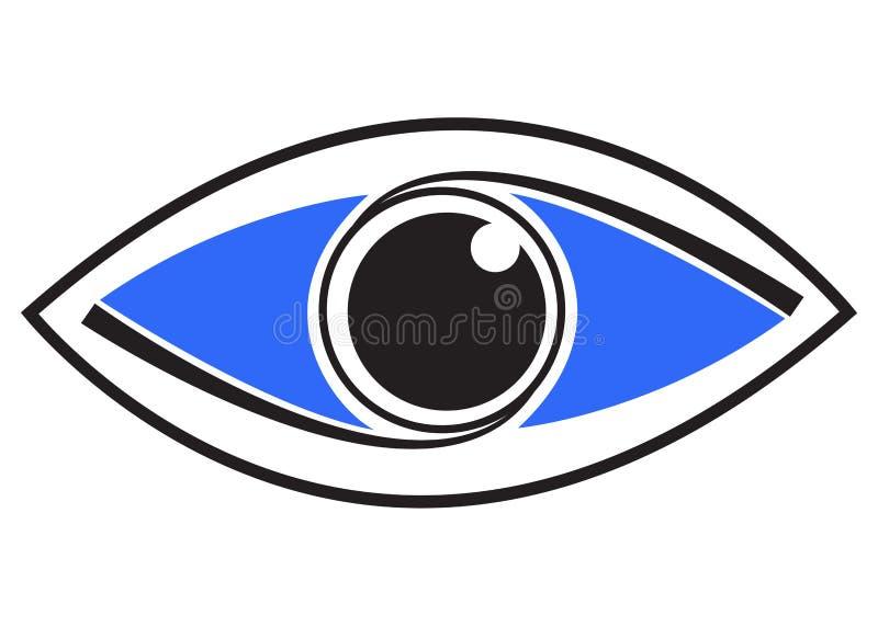 Art eye. Illustration of art eye logo design isolated on white background royalty free illustration