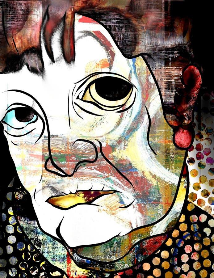 Download Art Face stock illustration. Image of colorful, original - 33219868