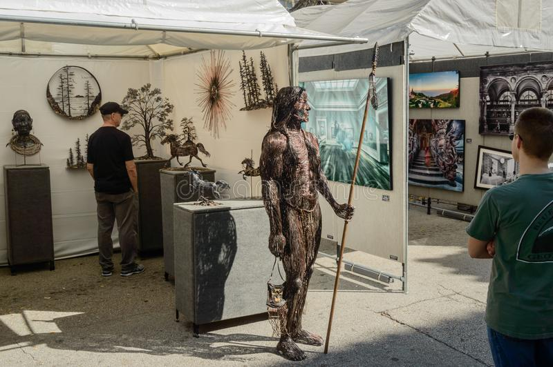 Las Olas Art festival March 2018 downtown Ft. Lauderdale7 royalty free stock images