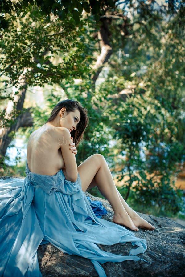 Art Fashion Model Portrait. Girl on a beach royalty free stock photos