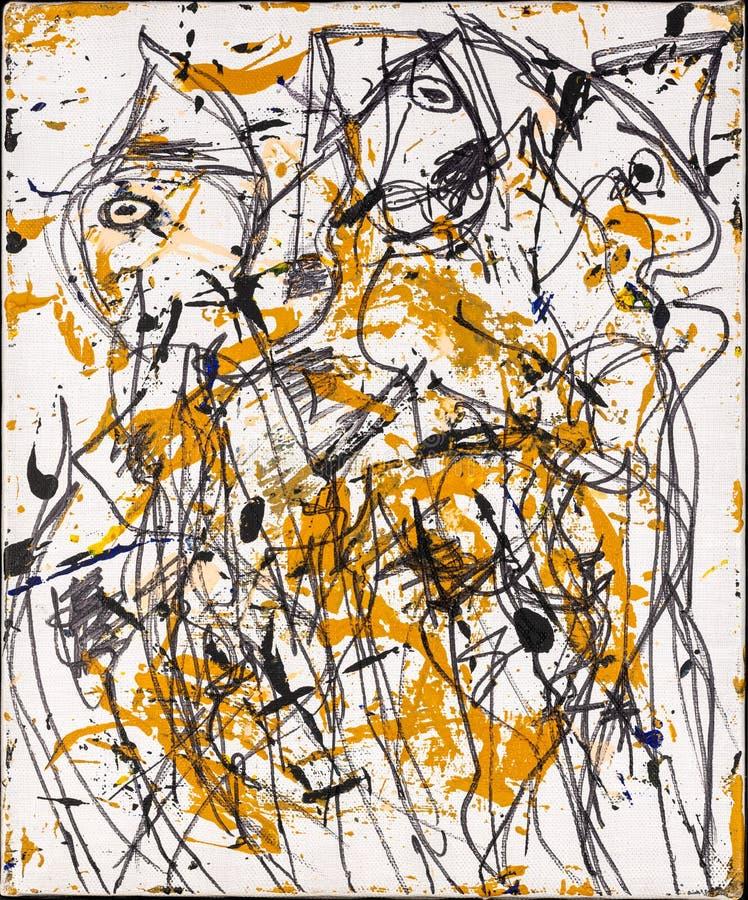 Art figuratif abstrait illustration stock