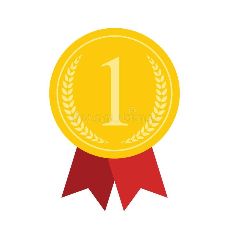 Art Flat Medal Icon para el web Icono app de la medalla Icono de la medalla mejor libre illustration