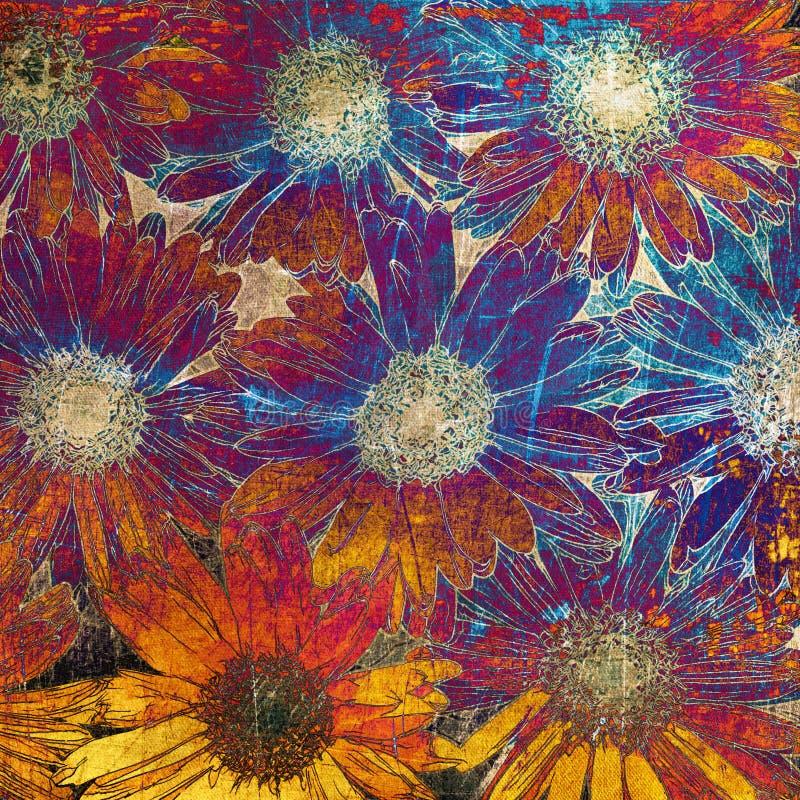 Art floral grunge background vector illustration