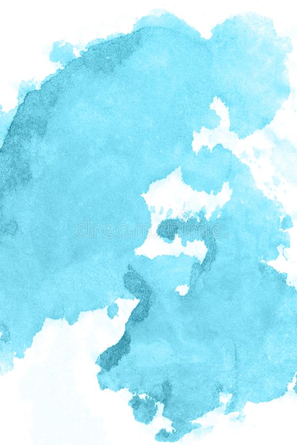Art Fond bleu de peinture d'aquarelle belle planète images libres de droits