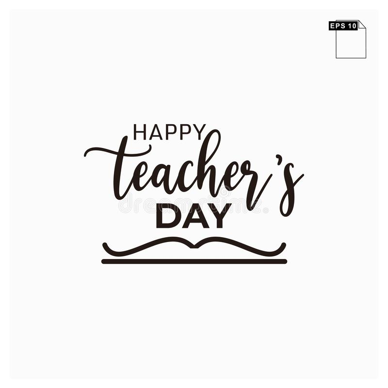 Moment happy teachers day lettering art font stock photos